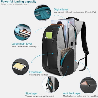 best business laptop backpack and HiOrange Anti Theft Computer Bag with USB Charging Port