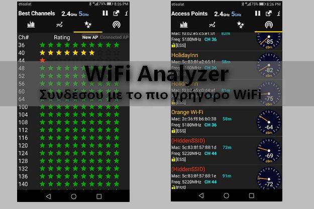 WiFi Analyzer - Βρείτε το WiFi με την καλύτερη ταχύτητα