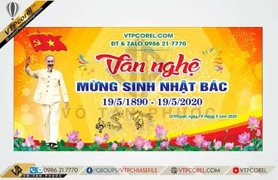 Phông nền Văn nghệ mừng ngày sinh chủ tịch Hồ Chí Minh