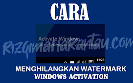 3 Cara Menghilangkan Watermark Windows 10 Activation