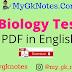 Biology Test PDF in English