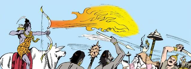 Battle between Shiva and Krishna