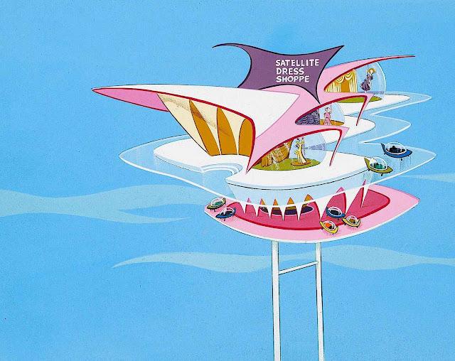 a Jetsons Background by Hanna Barbera animation