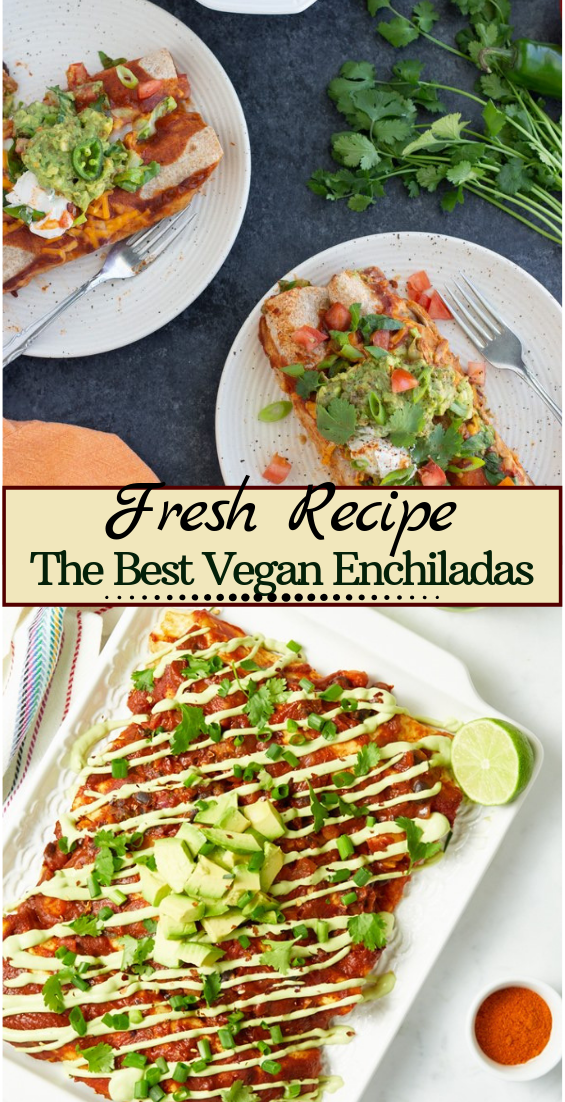 The Best Vegan Enchiladas #dinnerrecipe #food #amazingrecipe #easyrecipe