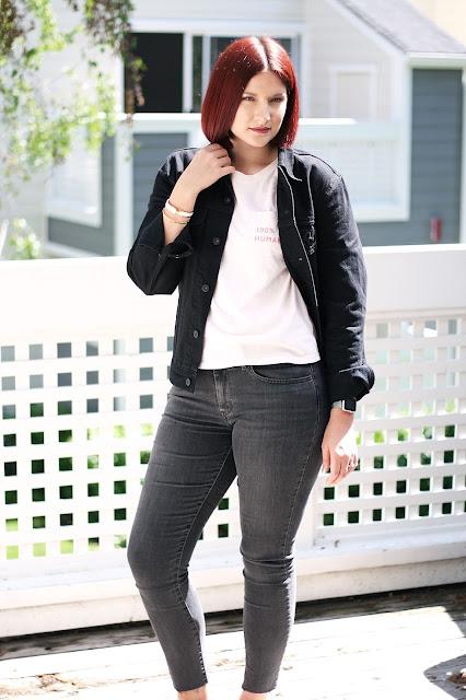 Levis, double denim, Everlane, 100% human, fashion blogger