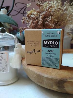 Jemné mydlo s kozím mliekom a bambuckým maslom