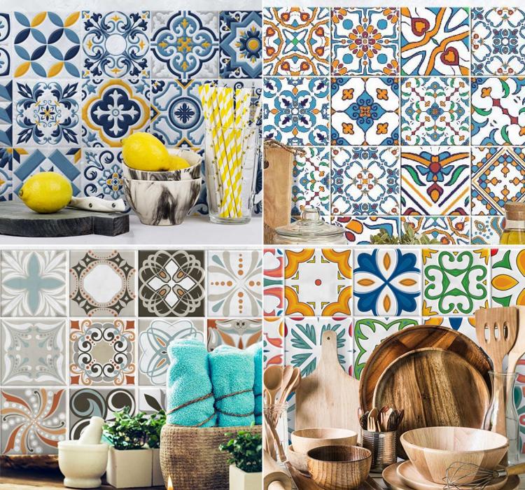 Rinnova le piastrelle della cucina arredamento facile for Adesivi murali piastrelle cucina
