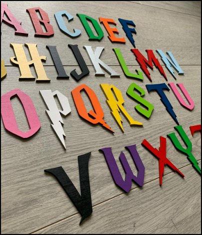 harry potter wall ideas harry potter wall decor Harry Potter, wooden letters,