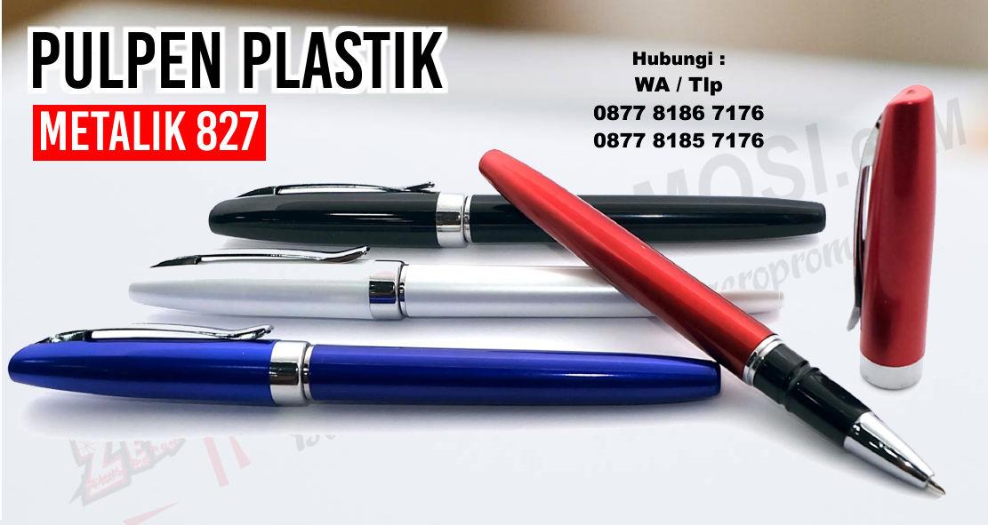 Pen 827, PULPEN SEMINAR 827, Barang Promosi Pulpen Metal 827, Souvenir Pulpen Plastik Metalik 827, souvenir pen plastik, pen plastik promosi, pulpen promosi, zeropromosi