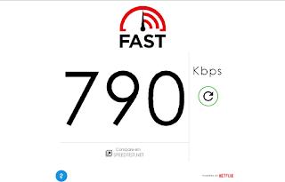 Medindo sua internet com o fast