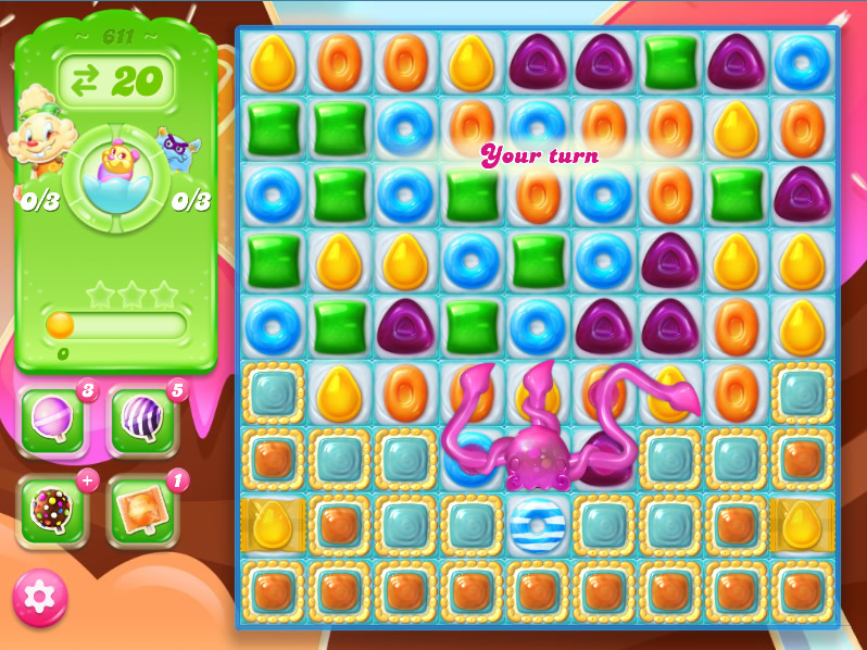 Candy Crush Jelly Saga level 611