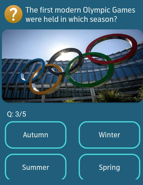 The first modern Olympic Games were held in which season?