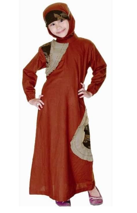 Model baju batik muslim anak desain terbaik, model baju muslim terbaru