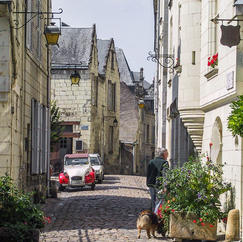 On the streets of Chinon