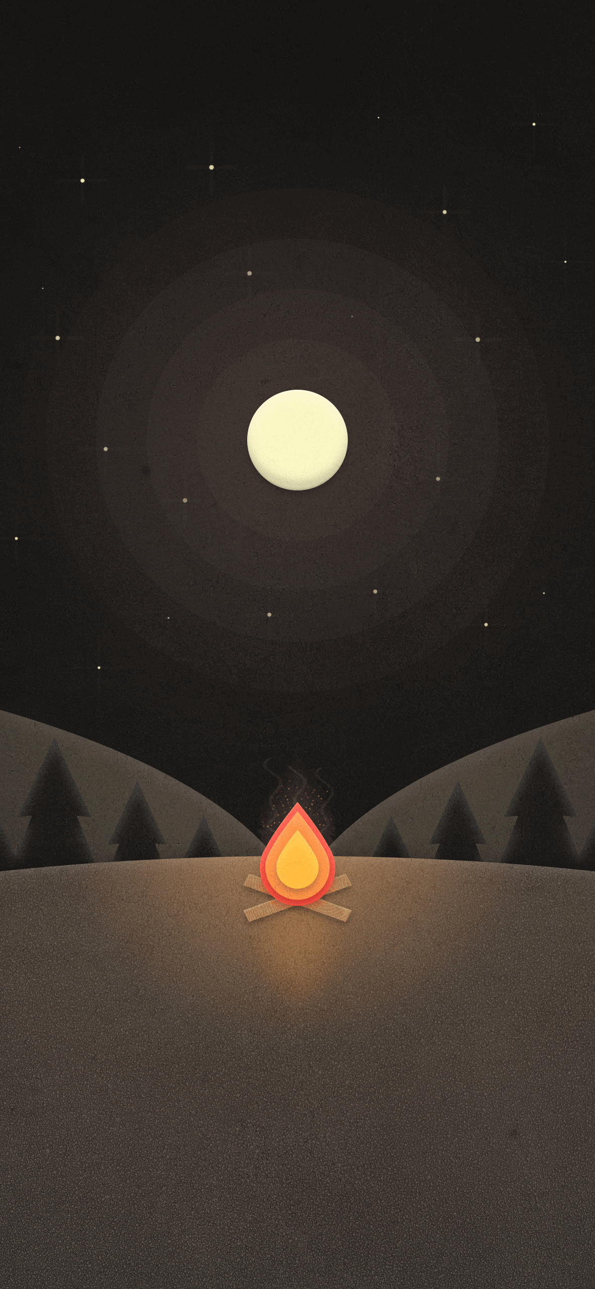 the best and beautiful campfire minimalist wallpaper for iphone hd