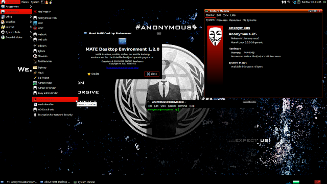 Anonymous-OS 0.1 : Anonymous Hackers released their own Operating System