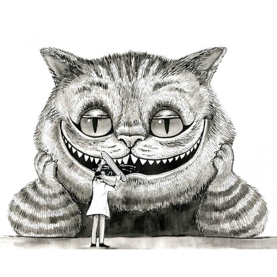 04-Alice-in-wonderland-Cheshire-Cat-Julia-www-designstack-co