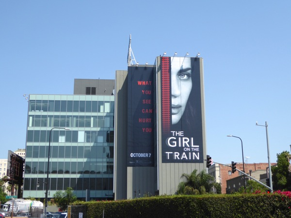 Girl on the Train movie billboard