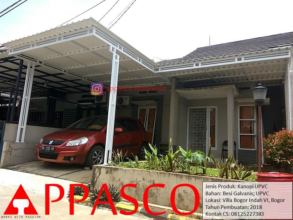 Kanopi Minimalis Modern Atap UPVC di Villa Bogor Indah