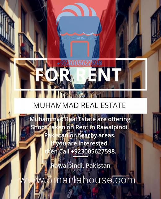 Shops for Taken on Rent in Takal, Rawalpindi, Pakistan, Muhammad Real Estate - Call +923005627598