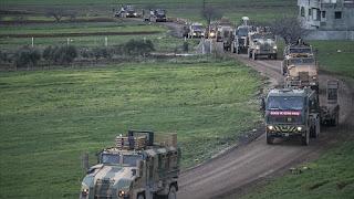 إرسال 200 مركبة عسكرية تركية إلى الحدود السورية (صور)