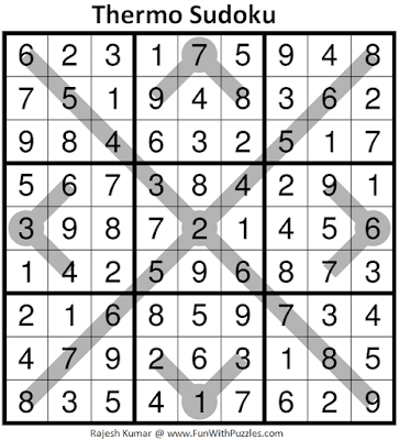 Answer of Thermometer Sudoku Puzzle (Fun With Sudoku #360)
