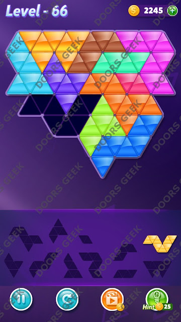 Block! Triangle Puzzle Challenger Level 66 Solution, Cheats, Walkthrough for Android, iPhone, iPad and iPod