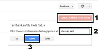 Cara membuat dan memsang sitemap google web master tool pada blog mupun website