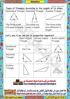 حصريا بوكليت مدرسة الكرمة للغات في منهج الماث للصف الرابع الابتدائي الترم الأول