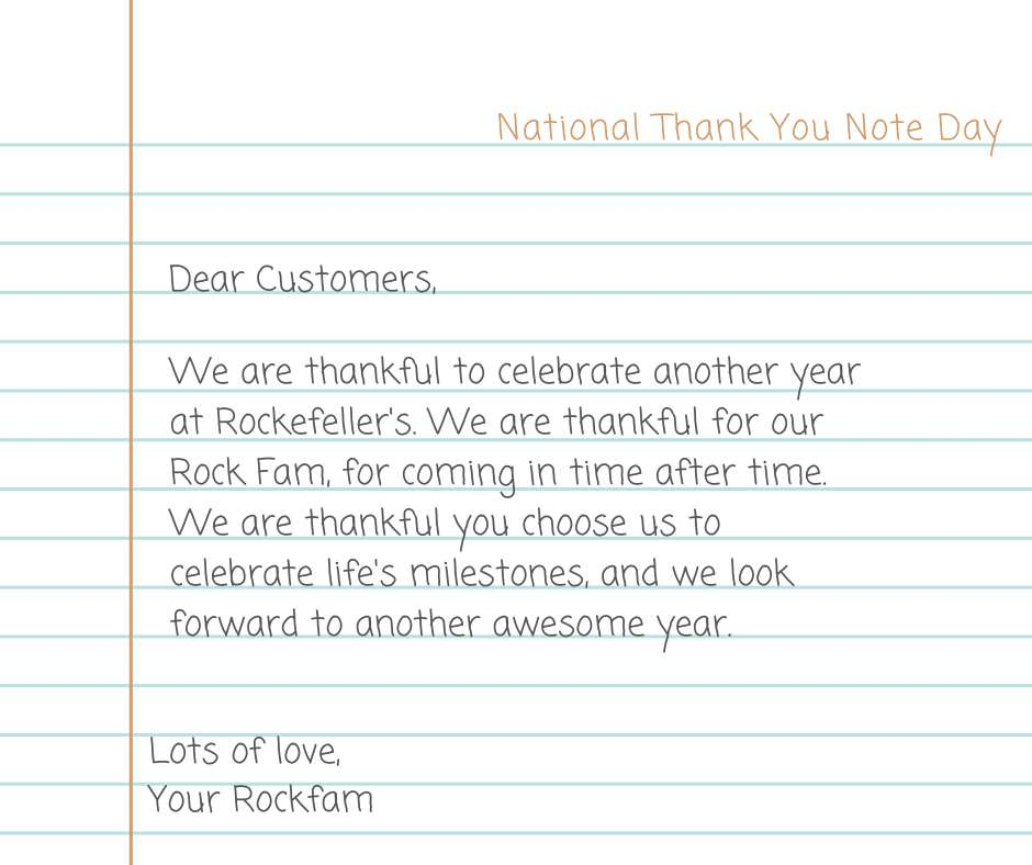 National Thank You Note Day Wishes Sweet Images