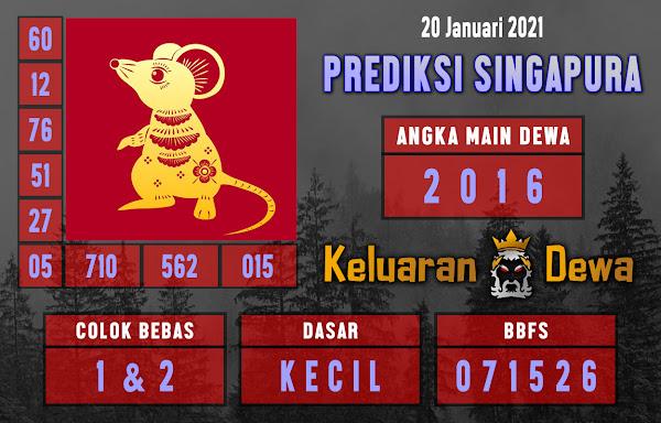 Prediksi Keluaran Singapore Rabu 20 Januari 2021 Terjitu 222