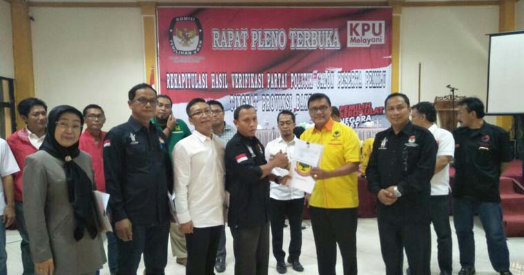 DPW Berkarya Banten Lolos Verifikasi 100 Persen Sebagai Partai Peserta Pemilu