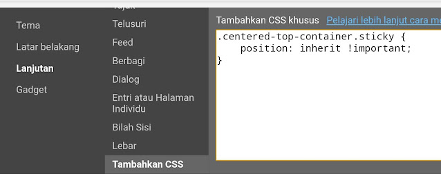 Add CSS blank