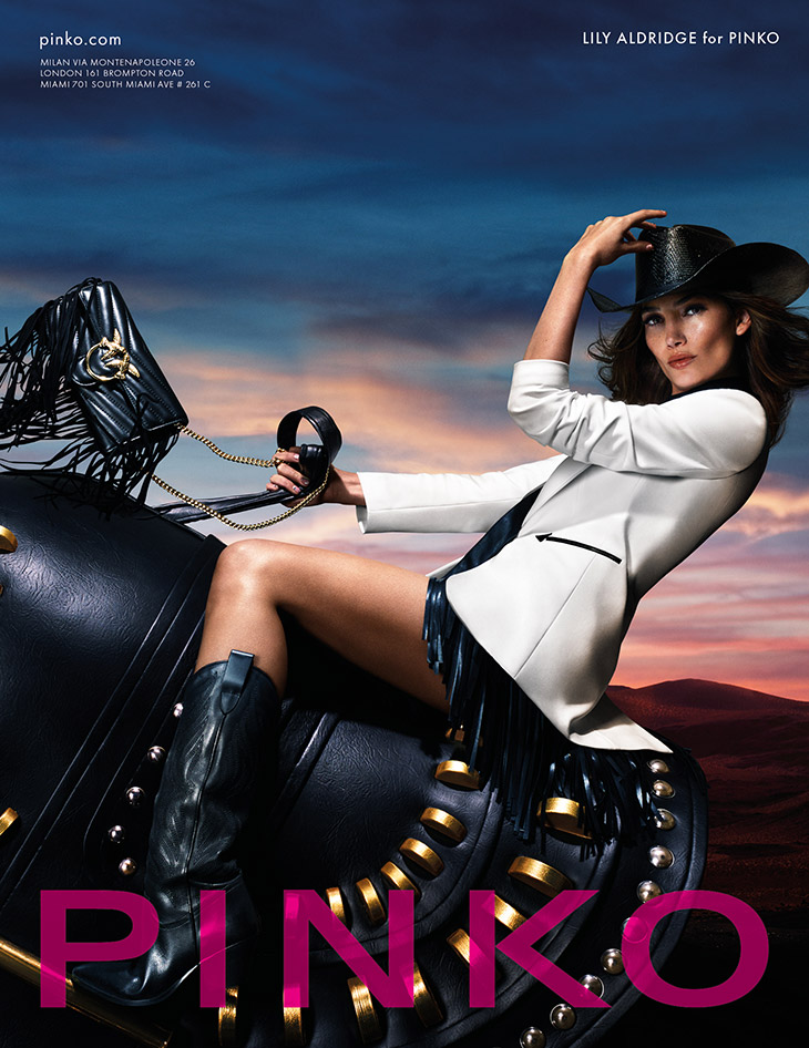 Lily Aldridge is the Face of PINKO Spring Summer 2020 Collection