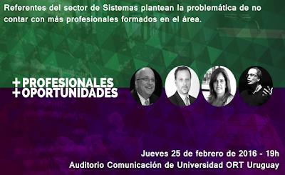 Mesa redonda escasez de profesionales en sistemas for Inscripciones jardin 2016 uruguay