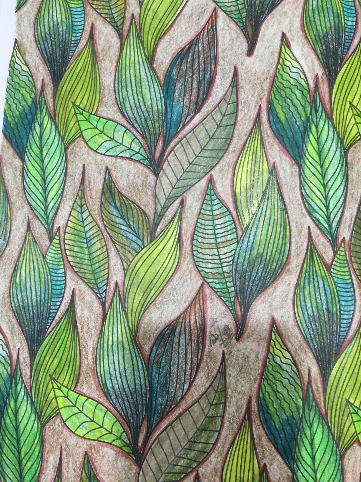 The gorgeous coloring book for grown ups - And The Second One Is With Parched Ground But Green Leaves