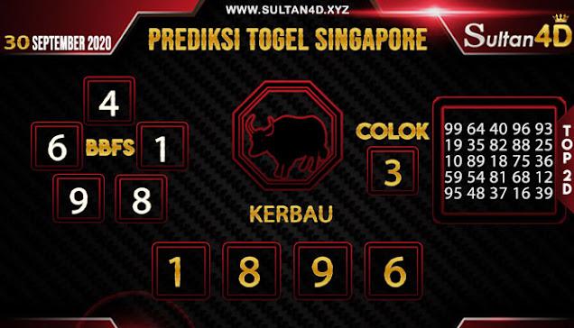 PREDIKSI TOGEL SINGAPORE SULTAN4D 30 SEPTEMBER 2020