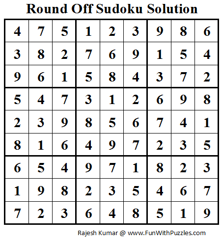 Round Off Sudoku (Daily Sudoku League #79) Solution