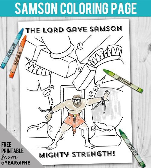A Year of FHE: Year 03 / Lesson 07: Samson\'s Spiritual Strength