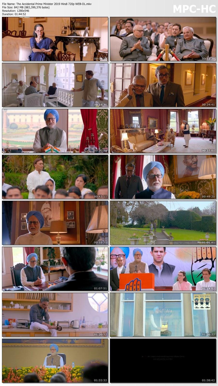 The Accidental Prime Minister 2019 Hindi 720p WEB-DL 800MB Desirehub