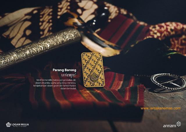 Emas Antam Motif Batik Parang Barong