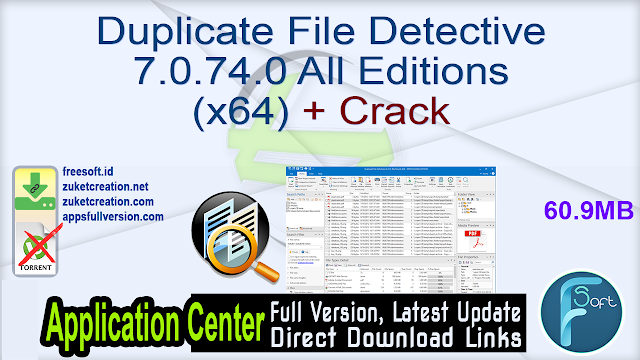 Duplicate File Detective 7.0.74.0 All Editions (x64) + Crack