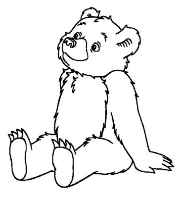 Gambar mewarnai beruang untuk anak - 5