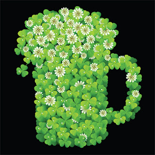 Clipart Image of a Shamrock Mug for St. Patrick's Day