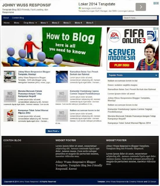 johny wuss responsive blogger template
