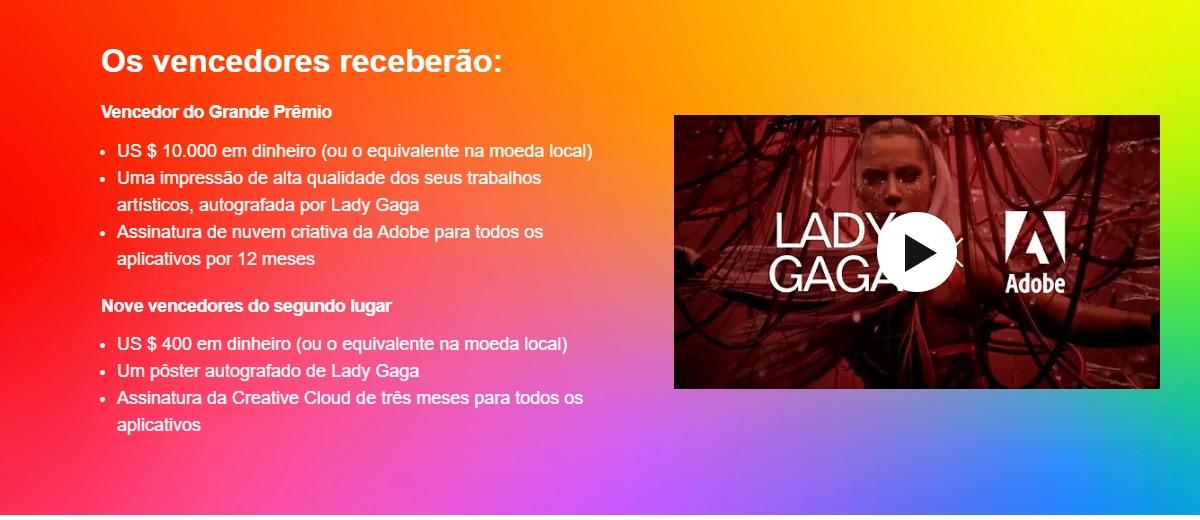Concurso Lady Gaga e Adobe 2020 - Chromatica