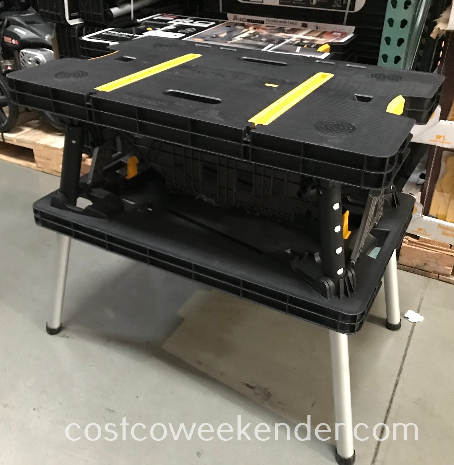 Easily work on diy projects with the Keter Folding Work Table