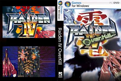 Jogo Raiden IV OverKill PC DVD Capa
