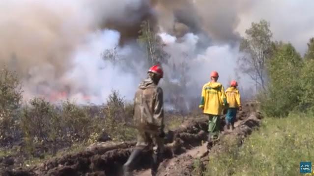Καύσωνας και δασικές πυρκαγιές στη Ρωσία (βίντεο)