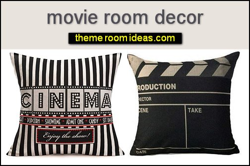 Movie Theater Throw Pillow home cinema room decor movie pillows home movie room